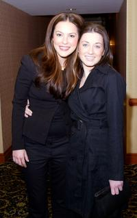 Sasha Barrese and Margo Harshman at the WB Upfront preview of the 2003/2004 television lineup.