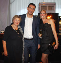 Marie-Luise Marjan, Wladimir Klitschko and Eva-Catharina Cramer at the CHIO Aachen 2011 in Germany.