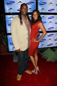 Lennox Lewis and Violet Lewis at the Alliance party during the Toronto International Film Festival in Canada.