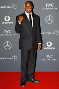 Lennox Lewis at the 2012 Laureus World Sports Awards in London.