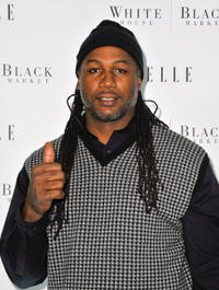 Lennox Lewis at the Elle Magazine 25th Anniversary party in New York.