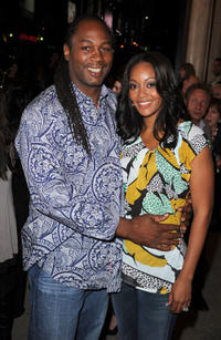 Lennox Lewis and Violet Lewis at the premiere of
