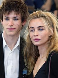 Gaspard Ulliel and Emmanuelle Beart at the photocall of