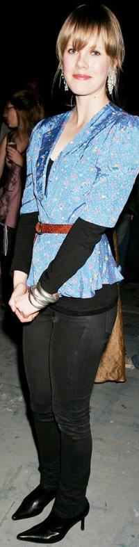 Alyssa McClelland at the party of the Sydney Theatre Company's 2007 Season Launch.