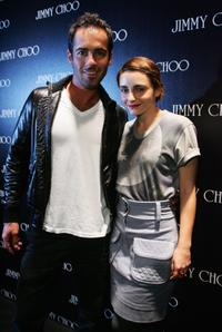 Alex Dimitrades and Pia Miranda at the launch of the new Jimmy Choo boutique.