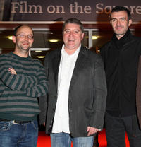 Producer Ed Guiney, Pat Shortt and Mark O'Halloran at the premiere of
