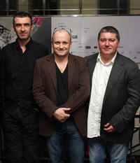 Mark O'Halloran, director Lenny Abrahamson and Pat Shortt at the premiere of