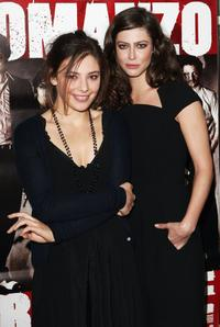 Jasmine Trinca and Anna Mouglalis at the premiere to promote