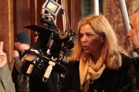 Director Lone Scherfig on the set of