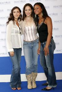Paola Mendoza, Judy Marte and Anny Mariano at the premiere of