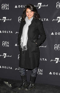 Melonie Diaz at the 7 For All Mankind & Gen Art's 7 Fresh Faces Sundance Party during the 2008 Sundance Film Festival.