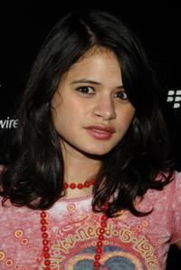 Melonie Diaz at the Verizons launch of the new Blackberry Pearl 8130 Smartphone.