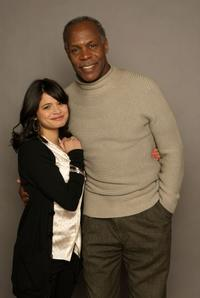 Melonie Diaz and Danny Glover at the 2008 Sundance Film Festival.