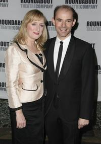 Jenna Russell and Daniel Evans at the opening night of