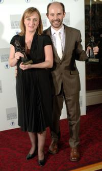 Jenna Russell and Daniel Evans at the Lawrence Olivier Awards.
