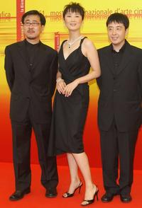 Chen Taisheng, Zhao Tao and Jia Zhang-ke at the photocall of