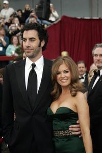Sacha Baron Cohen and Isla Fisher at the 79th Academy Awards.