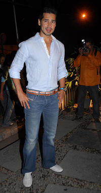 Dino Morea at the launch of a showroom of designers Rohit Gandhi and Rahul Khanna in Mumbai.
