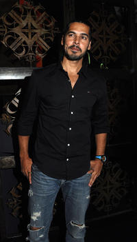 Dino Morea at the launch of an interior design store in Mumbai.