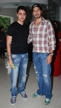 Imran Khan and Dino Morea at the Bandra Environment press conference in Mumbai.