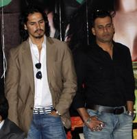 Dino Morea and Manoj Bajpai at the promo of
