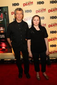 Eric Bogosian and Sarah Vowell at the premiere of