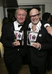 Chris Tarrant and Harry Hill at the British Comedy Awards 2006.