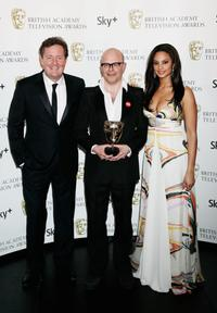 Piers Morgan, Harry Hill and Alesha Dixon at the British Academy Television Awards 2008.