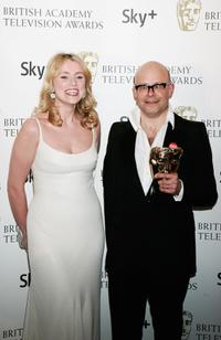 Keeley Hawes and Harry Hill at the British Academy Television Awards 2008.