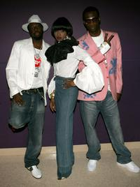 Wyclef Jean, Lauryn Hill and Pras Michel at the 2005 BET Awards.