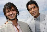 Vivek Oberoi and Ajay Devgan at the photocall of