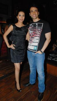 Amrita Rao and Tusshar Kapoor at the launch Ceremony in Mumbai.