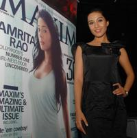 Amrita Rao at the launch Ceremony in Mumbai.