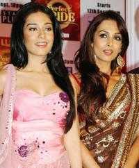 Amrita Rao and Mallaika Arora Khan at the launch of the new television reality show