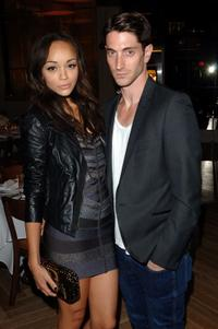 Ashley Madekwe and Iddo Goldberg at the Max and Lubov Azria Host Fashion Week Dinner.