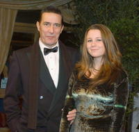 Ciaran Hinds and Clara at the Irish Film And Television Awards 2005.