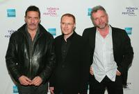 Ciaran Hinds, Conor McPherson and Aidan Quinn at the premiere of
