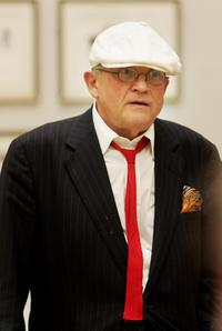 David Hockney at the Royal Academy of Art.
