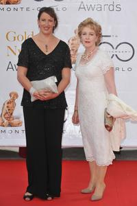 Miranda Hart and Patricia Hodge at the Closing Ceremony of the 2010 Monte Carlo Television Festival.