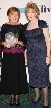 Moira Armstrong and Patricia Hodge at the Women In Film And TV Awards.