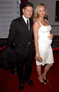 Andrew Niccol and Rachel Roberts at the premiere of