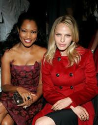 Garcelle Beauvais and Rachel Roberts at the Luca Luca Spring 2006 fashion show during the Olympus Fashion Week.