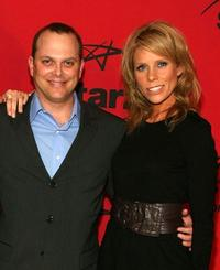 Adam Paul and Cheryl Hines at the Starz premiere party of