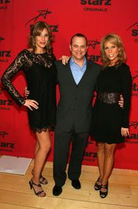 Lindsey Stoddart, Adam Paul and Cheryl Hines at the Starz premiere party of