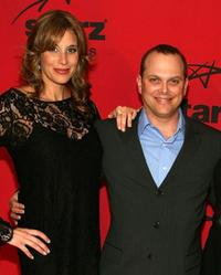 Lindsey Stoddart and Adam Paul at the Starz premiere party of
