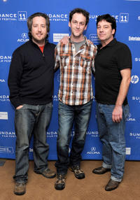 Steve Little, director Todd Rohal and Robert Longstreet at the premiere of