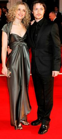 James McAvoy and Anne-Marie Duff at the Orange British Academy Film Awards (BAFTAs).