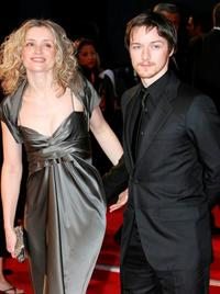 Anne-Marie Duff and James McAvoy at the Orange British Academy Film Awards (BAFTAs).