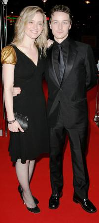 Anne-Marie Duff and James McAvoy at the UK premiere of