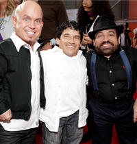 Martin Klebba, Mark Povinelli and Danny Woodburn at the California premiere of